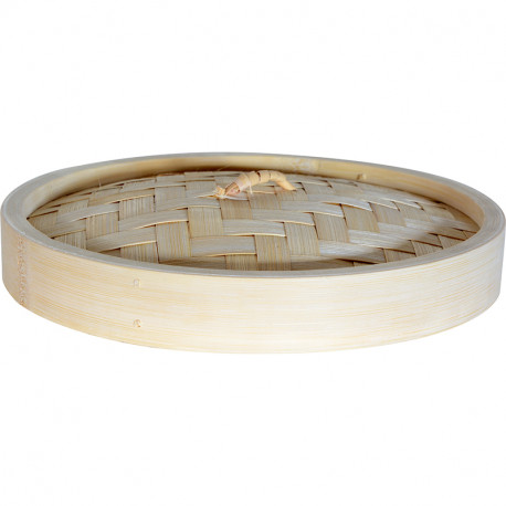 Bamboo Steamer With Higher Base Lid 20cm