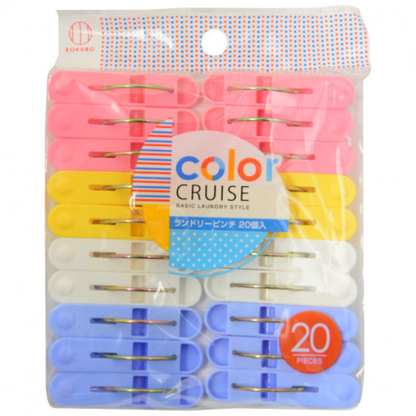 Color Cruise Clothes Pegs 20Pieces