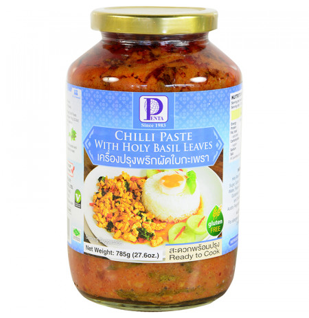 Chilli Paste With Holy Basil Leave