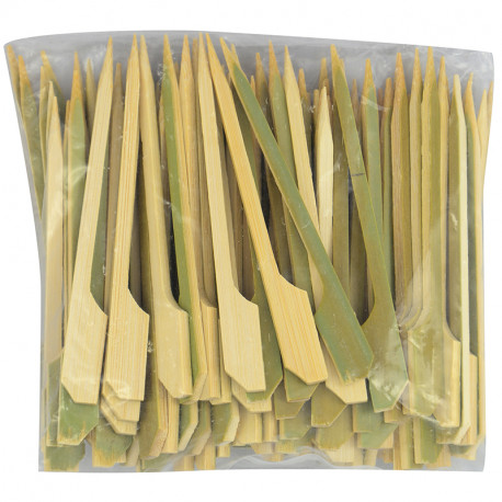 9cm Green Gun Shape Bamboo Skewers