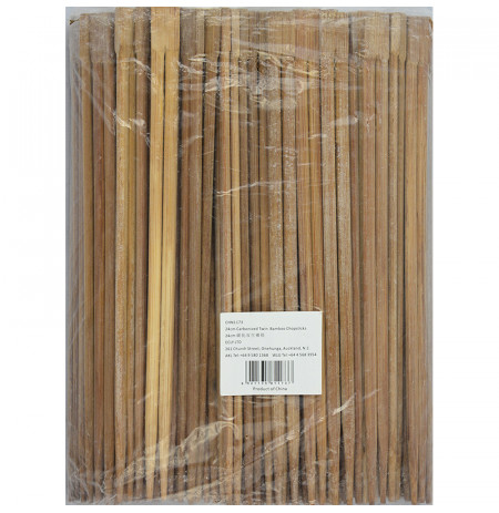 24cm Carbonized Twin Bamboo Chopsticks